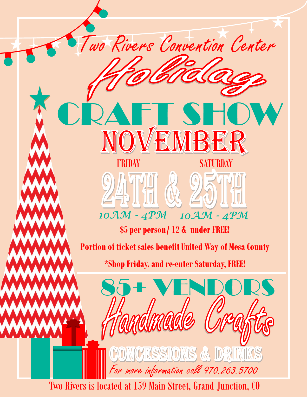 Christmas Craft Show Flyer.Holiday Craft Show Flyer United Way Of Mesa Countyunited